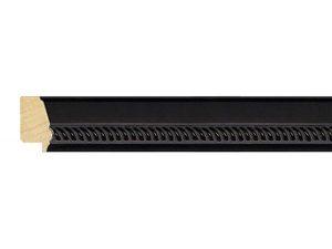 Gemini Wood Moulding - SATIN BLACK ROPE