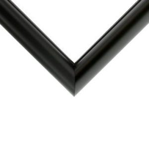 Nielsen Metal Moulding - BLACK ROUND TOP**
