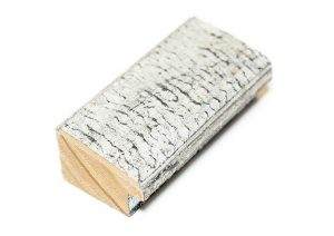 """Gemini Wood Moulding - 1 1/2"""" WHITE W/ AGED SILVER**"""