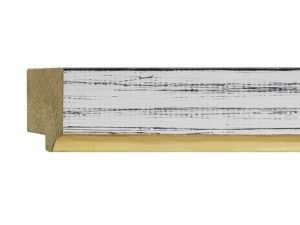 """UFP Wood Moulding - Town & Country 1 9/16"""" White Rustic w/ Gold"""