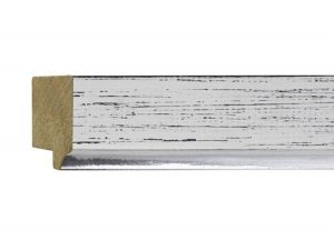 """UFP Wood Moulding - Town & Country 1 9/16"""" White Rustic w/ Silver"""