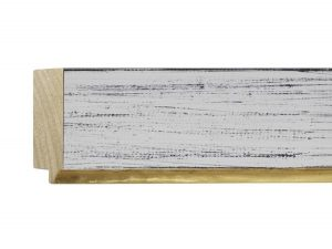 """UFP Wood Moulding - Town & Country 2 3/4"""" White Rustic w/ Gold"""