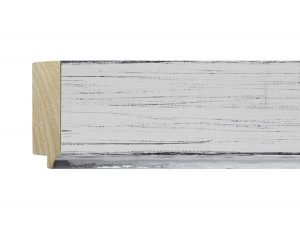 """UFP Wood Moulding - Town & Country 2 3/4"""" White Rustic w/ Silver"""