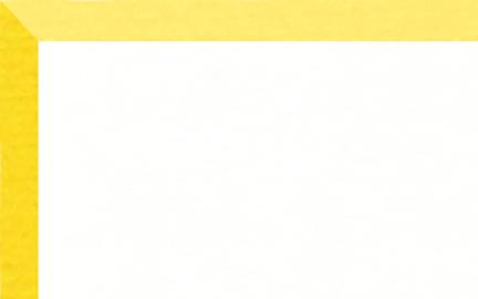 """Crescent Mat Board - Brite Core 4 ply - White on Yellow (40"""" X 60"""") *SPECIAL ORDER"""