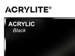 "Roehm - 48x96 - 1/2"" Black Acrylite Acrylic"