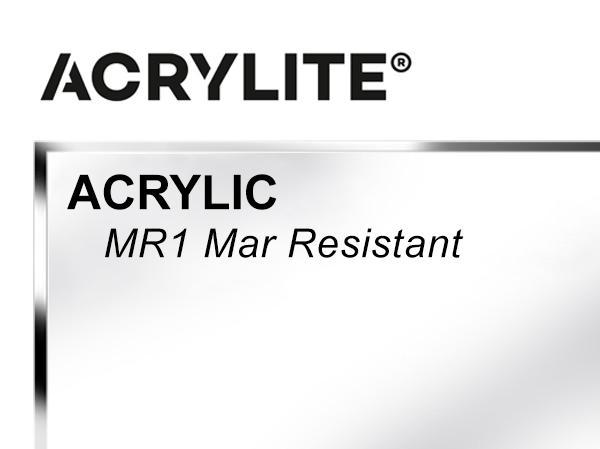 "Roehm - 48x96 - 1/4"" MR1 Mar Resistant Acrylite Acrylic - Clear"