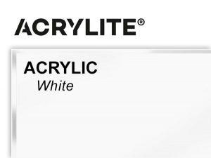 "Roehm - 48x96 - 3/16"" White Acrylite Acrylic"